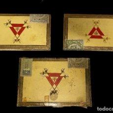 Cajas de Puros: 3 CAJAS DE MADERA DE PUROS MONTECRISTO. Nº4 Y Nº5. LEER. Lote 265143174