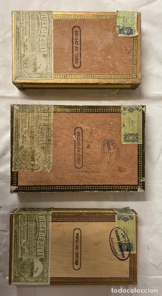 Cajas de Puros: 3 cajas de madera de puros montecristo. nº4 y nº5. Leer - Foto 3 - 265143174