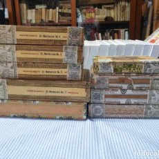 Boîtes de Cigares: GRAN LOTE DE 9 CAJAS DE PUROS HABANOS. ROMEO Y JULIETA CHURCHILLS, MONTECRISTO, TROYA UNIVERSALES.... Lote 266430783