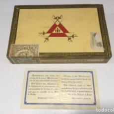 Boîtes de Cigares: CAJA DE PUROS HABANOS MONTECRISTRO DEL NÚMERO 4 COMPLETA MUY BUEN ESTADO AÑOS 70. Lote 267188104