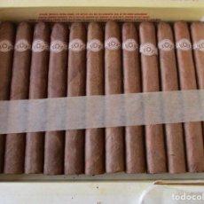 Cajas de Puros: SU CAJA CON 12 PUROS. MONTECRISTO Nº 3. HABANA. HECHO EN CUBA. TABACOS EN COMISION.. Lote 268442254