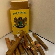 Cajas de Puros: CAJA LOS STATOS DE LUXE HABANA, DELIRIOS, CONSERVA 1 CIGARRO. EL RESTO SON VARIADOS. VER FOTOS. Lote 268602504