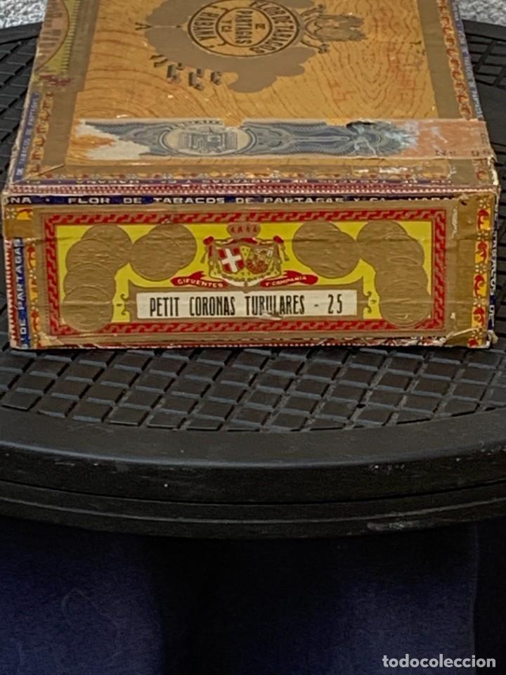 Cajas de Puros: CAJA FLOR TABACOS PARTAGAS Y Cª HABANA CIGARROS PUROS MADE IN HABANA CUBA SERIE L PPIO S XX - Foto 2 - 269104153