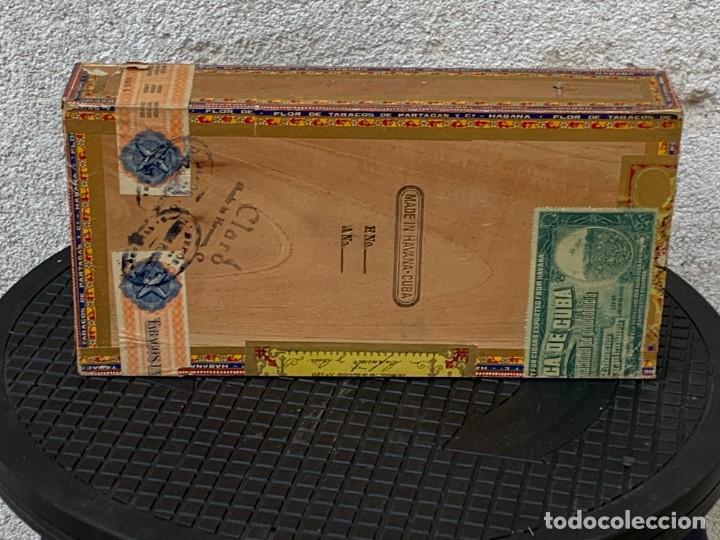 Cajas de Puros: CAJA FLOR TABACOS PARTAGAS Y Cª HABANA CIGARROS PUROS MADE IN HABANA CUBA SERIE L PPIO S XX - Foto 3 - 269104153