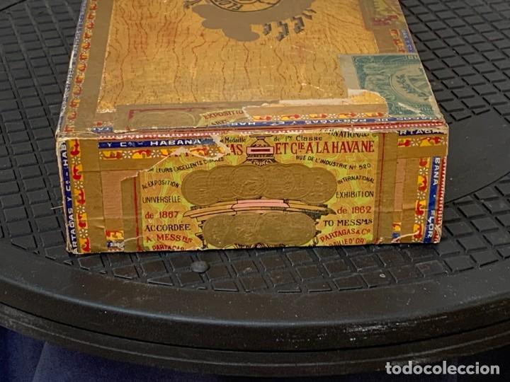 Cajas de Puros: CAJA FLOR TABACOS PARTAGAS Y Cª HABANA CIGARROS PUROS MADE IN HABANA CUBA SERIE L PPIO S XX - Foto 4 - 269104153
