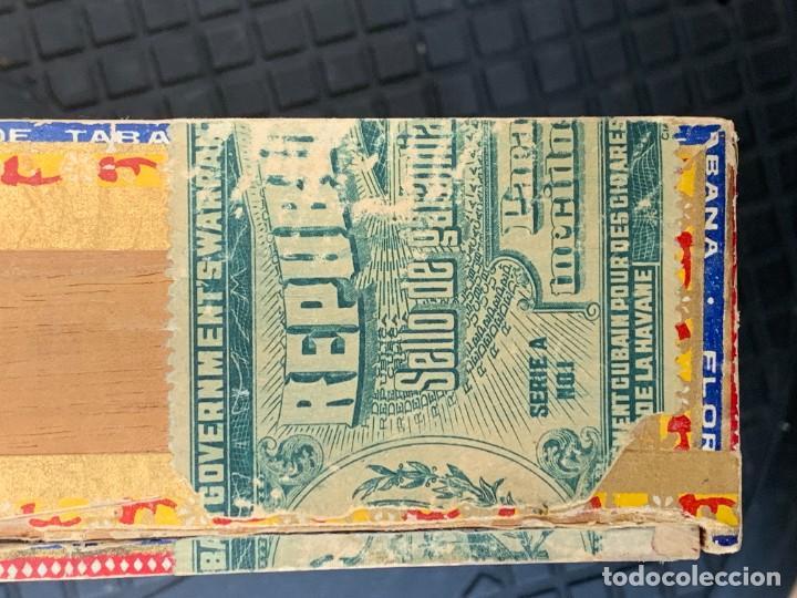 Cajas de Puros: CAJA FLOR TABACOS PARTAGAS Y Cª HABANA CIGARROS PUROS MADE IN HABANA CUBA SERIE L PPIO S XX - Foto 8 - 269104153