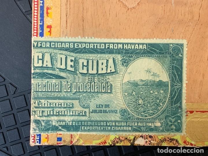 Cajas de Puros: CAJA FLOR TABACOS PARTAGAS Y Cª HABANA CIGARROS PUROS MADE IN HABANA CUBA SERIE L PPIO S XX - Foto 9 - 269104153