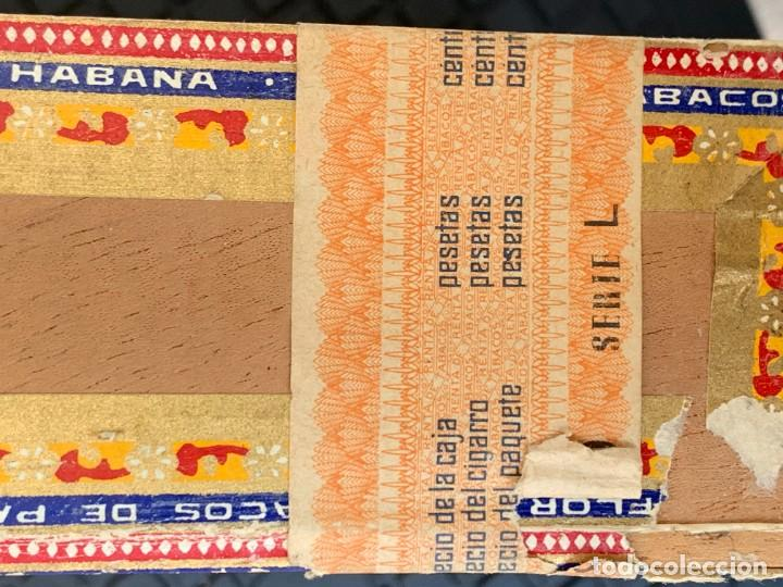 Cajas de Puros: CAJA FLOR TABACOS PARTAGAS Y Cª HABANA CIGARROS PUROS MADE IN HABANA CUBA SERIE L PPIO S XX - Foto 15 - 269104153