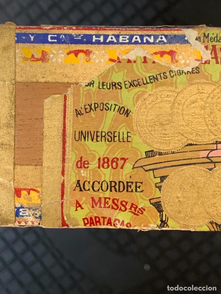 Cajas de Puros: CAJA FLOR TABACOS PARTAGAS Y Cª HABANA CIGARROS PUROS MADE IN HABANA CUBA SERIE L PPIO S XX - Foto 19 - 269104153
