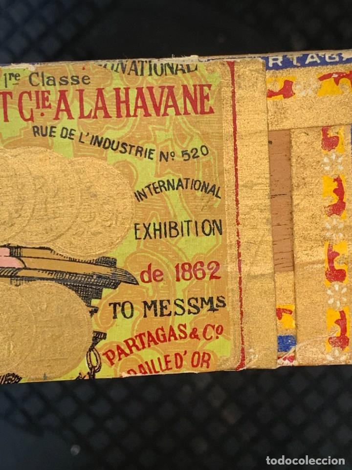 Cajas de Puros: CAJA FLOR TABACOS PARTAGAS Y Cª HABANA CIGARROS PUROS MADE IN HABANA CUBA SERIE L PPIO S XX - Foto 21 - 269104153