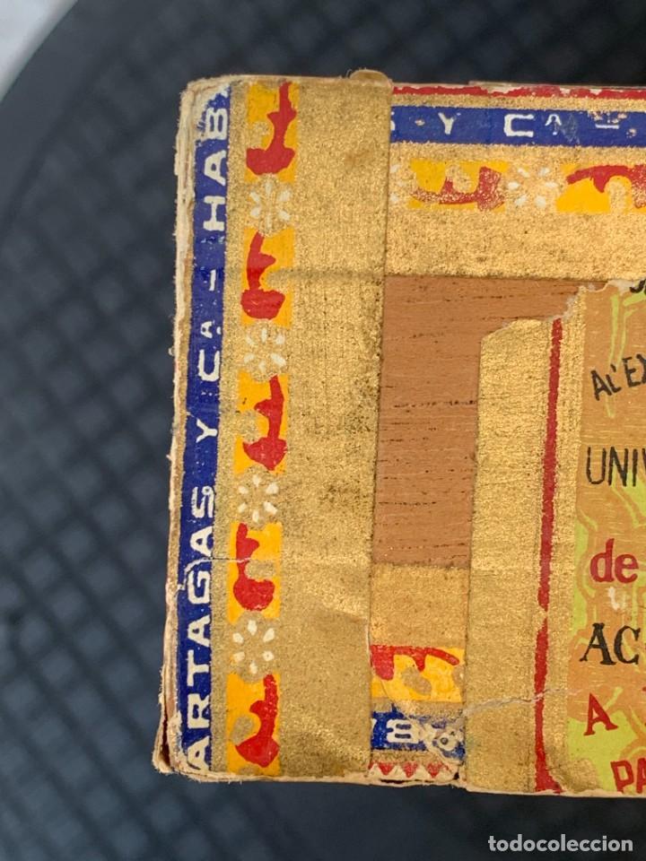 Cajas de Puros: CAJA FLOR TABACOS PARTAGAS Y Cª HABANA CIGARROS PUROS MADE IN HABANA CUBA SERIE L PPIO S XX - Foto 22 - 269104153
