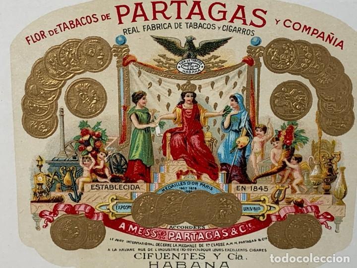 Cajas de Puros: CAJA FLOR TABACOS PARTAGAS Y Cª HABANA CIGARROS PUROS MADE IN HABANA CUBA SERIE L PPIO S XX - Foto 32 - 269104153