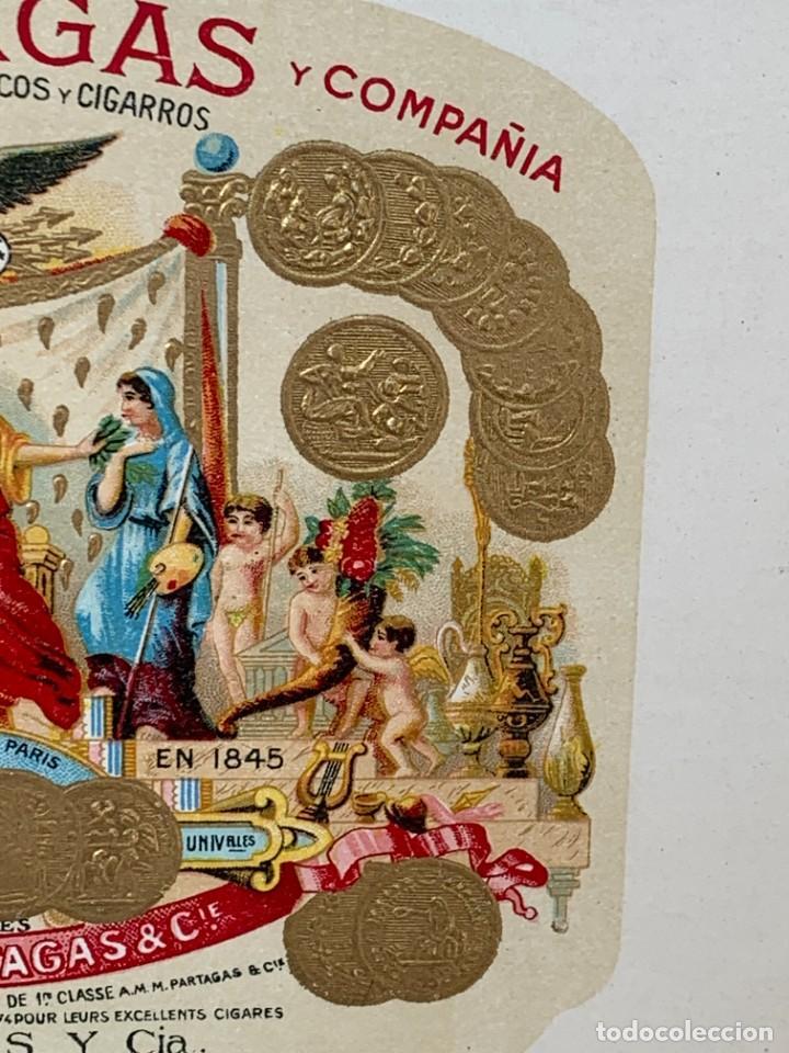 Cajas de Puros: CAJA FLOR TABACOS PARTAGAS Y Cª HABANA CIGARROS PUROS MADE IN HABANA CUBA SERIE L PPIO S XX - Foto 35 - 269104153