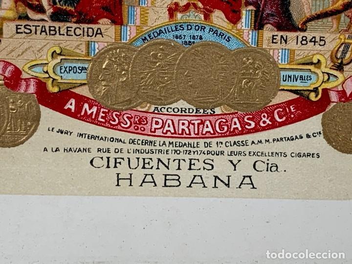 Cajas de Puros: CAJA FLOR TABACOS PARTAGAS Y Cª HABANA CIGARROS PUROS MADE IN HABANA CUBA SERIE L PPIO S XX - Foto 36 - 269104153