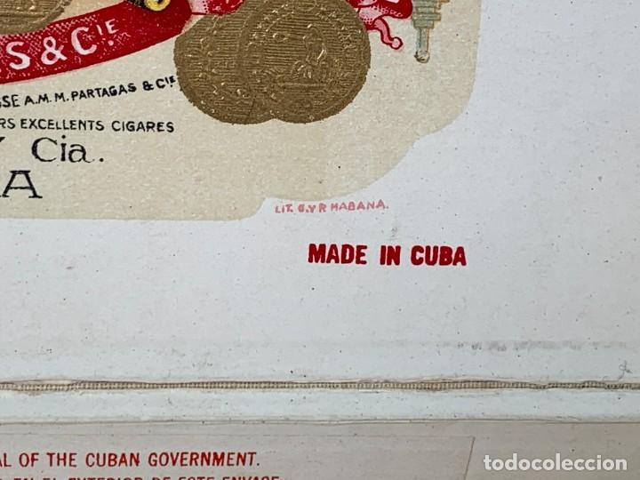Cajas de Puros: CAJA FLOR TABACOS PARTAGAS Y Cª HABANA CIGARROS PUROS MADE IN HABANA CUBA SERIE L PPIO S XX - Foto 38 - 269104153