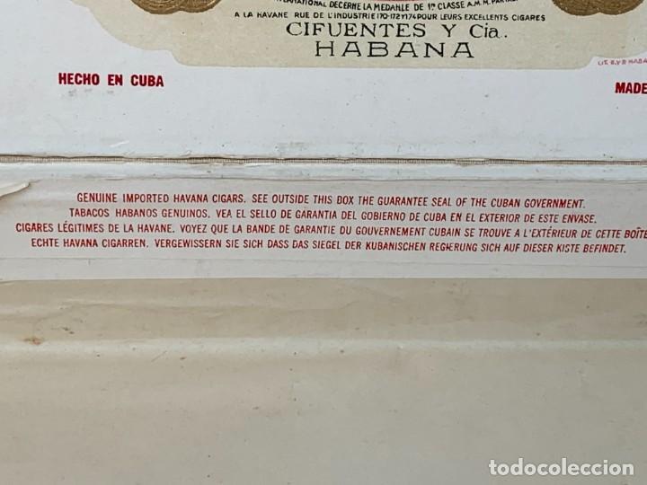 Cajas de Puros: CAJA FLOR TABACOS PARTAGAS Y Cª HABANA CIGARROS PUROS MADE IN HABANA CUBA SERIE L PPIO S XX - Foto 39 - 269104153