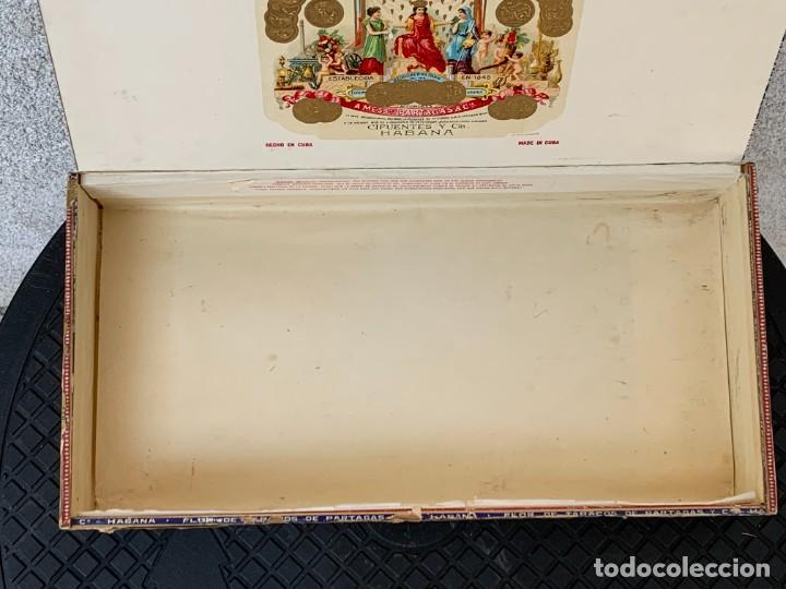 Cajas de Puros: CAJA FLOR TABACOS PARTAGAS Y Cª HABANA CIGARROS PUROS MADE IN HABANA CUBA SERIE L PPIO S XX - Foto 40 - 269104153