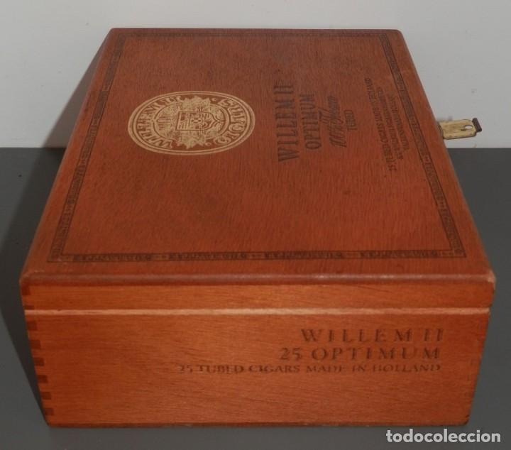 Cajas de Puros: CAJA DE MADERA DE LOS TABACOS WILLEM II OPTIMUN - Foto 3 - 269164843