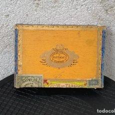 Cajas de Puros: CAJA PUROS LONDRES EXTRA CELLOPHANE FLOR TABACOS PARTAGAS Y Cª HABANA HECHO EN CUBA SERIE A 14X21X4C. Lote 269352093