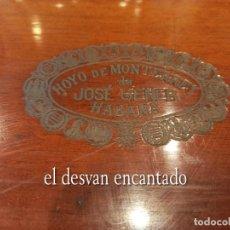 Cajas de Puros: LUJOSA CAJA DE PUROS HOYO DE MONTERREY. JOSÉ GENER. HABANA. VACIA. BUEN ESTADO. 31 X 18 X 5 CTMS. Lote 269404658