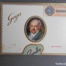 Cajas de Puros: CAJA DE PUROS COMPLETA Y ANTIGUA RUMBO 25 CIGARROS GOYA Nº1. PRECINTADA. AÑOS 60-70. Lote 269995728