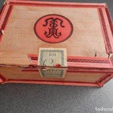 Cajas de Puros: CAJA DE FARIAS ANTIGUA CON 33 FARIAS SUPERIORES. TABACALERA ESPAÑOLA. Lote 269996228