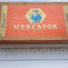 Cajas de Puros: CAJA DE CIGARROS TABACO CIGARILLOS VINTAGE MADERA MERCATOR. Lote 270248618