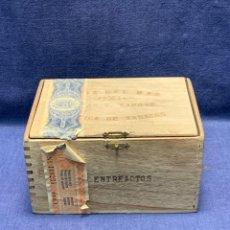 Cajas de Puros: CAJA PUROS FLOR FINA CRUZ DEL MAR FABRICA TABACOS TOMAS V CAPOTE ENTREACTOS 8X14X10,5CMS. Lote 270928063