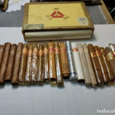 Cajas de Puros: CAJA DE PUROS MONTE CRISTO CON 25 PUROS DISTINTAS MARCAS MAYORÍA HABANA. Lote 273068453