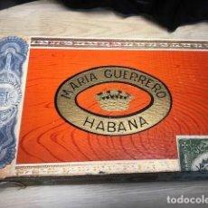 Cajas de Puros: CAJA DE PUROS MARÍA GUERRERO HABANA CUBA. Lote 274444433