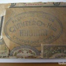 Cajas de Puros: TAPA CAJA QUINTERO. Lote 274913658