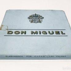 Cajas de Puros: CAJA METALICA DE PUROS DON MIGUEL - 10 MIGUELITOS. Lote 276969053