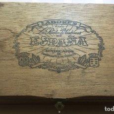 Cajas de Puros: LABORES PARA LA RENTA DE TABACOS DE ESPAÑA SINDICATOS FABRICANTES DE CANARIAS ANTIGUA CAJA PUROS VA. Lote 277141993