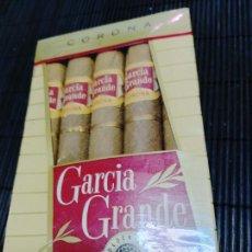 Cajas de Puros: ANTIGUA CAJA DE 5 PUROS HABANNOS CORONAS GARCIA GRANDE FLORIDA USA NUEVA SIN USO UNICA EN TC. Lote 277190903