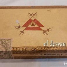 Cajas de Puros: ANTIGUA CAJA 25 PUROS HABANOS MONTECRISTO Nº 4. SIN ABRIR. VER FOTOS. Lote 277608738