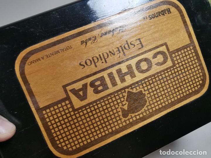 Cajas de Puros: CAJA HUMIDOR COHIBA ESPLENDIDOS HABANA CUBA--CON 4 PUROS- AÑOS 70 - Foto 23 - 277829003