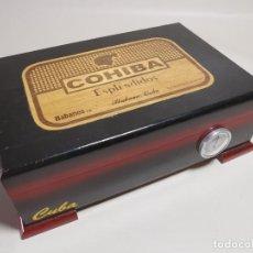 Cajas de Puros: CAJA HUMIDOR COHIBA ESPLENDIDOS HABANA CUBA--CON 4 PUROS- AÑOS 70. Lote 277829003
