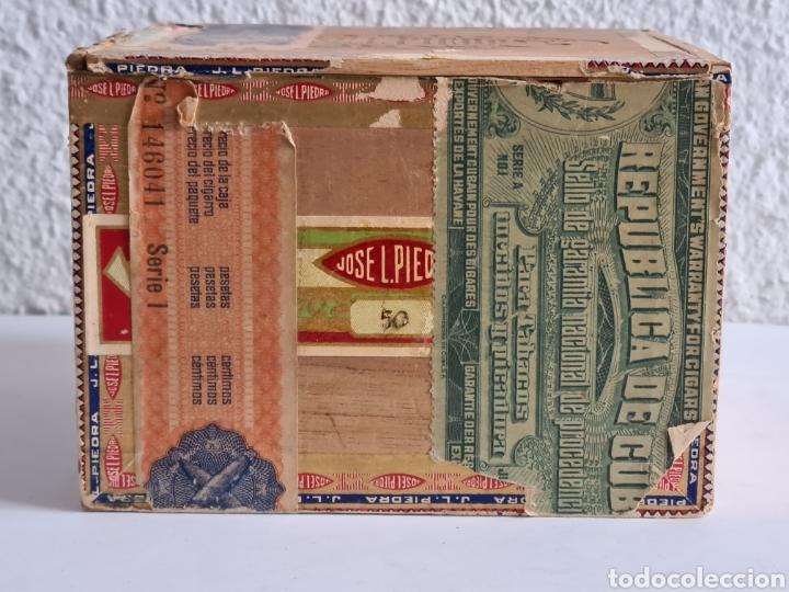 Cajas de Puros: Caja vacía Fábrica Tabacos Puros Habanos José L. Piedra - Habana Cuba - Cigars - Foto 3 - 278035383