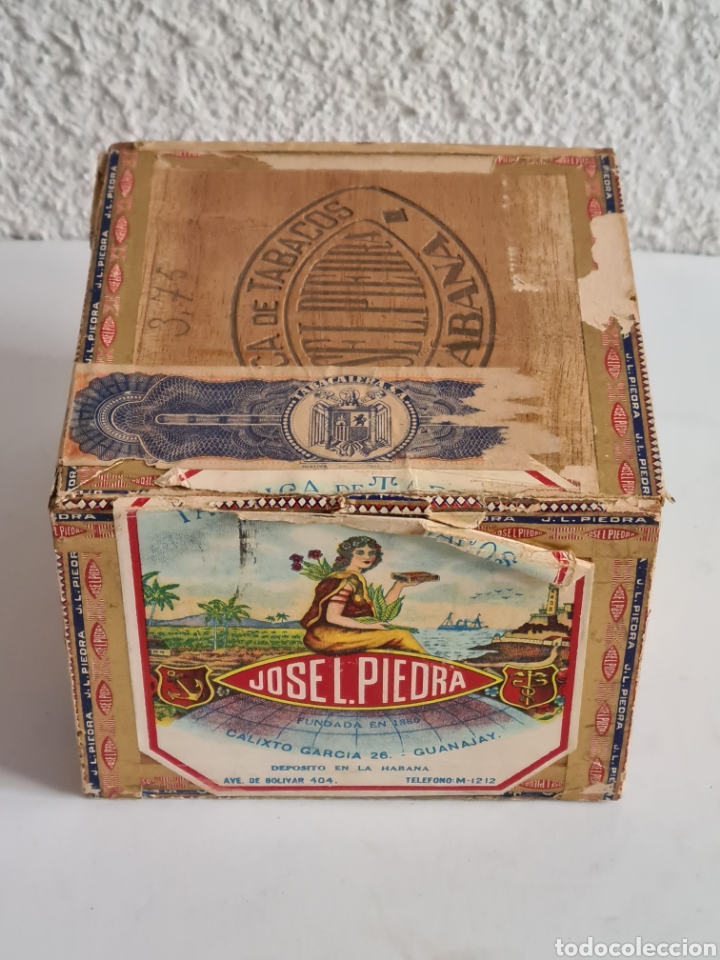 Cajas de Puros: Caja vacía Fábrica Tabacos Puros Habanos José L. Piedra - Habana Cuba - Cigars - Foto 4 - 278035383