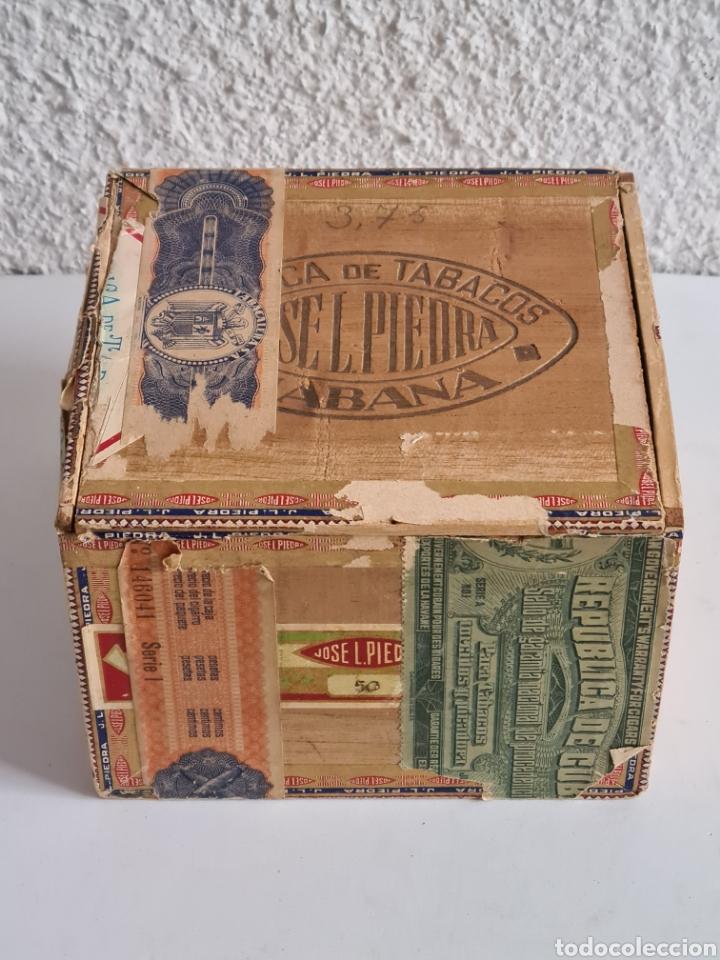 Cajas de Puros: Caja vacía Fábrica Tabacos Puros Habanos José L. Piedra - Habana Cuba - Cigars - Foto 2 - 278035383