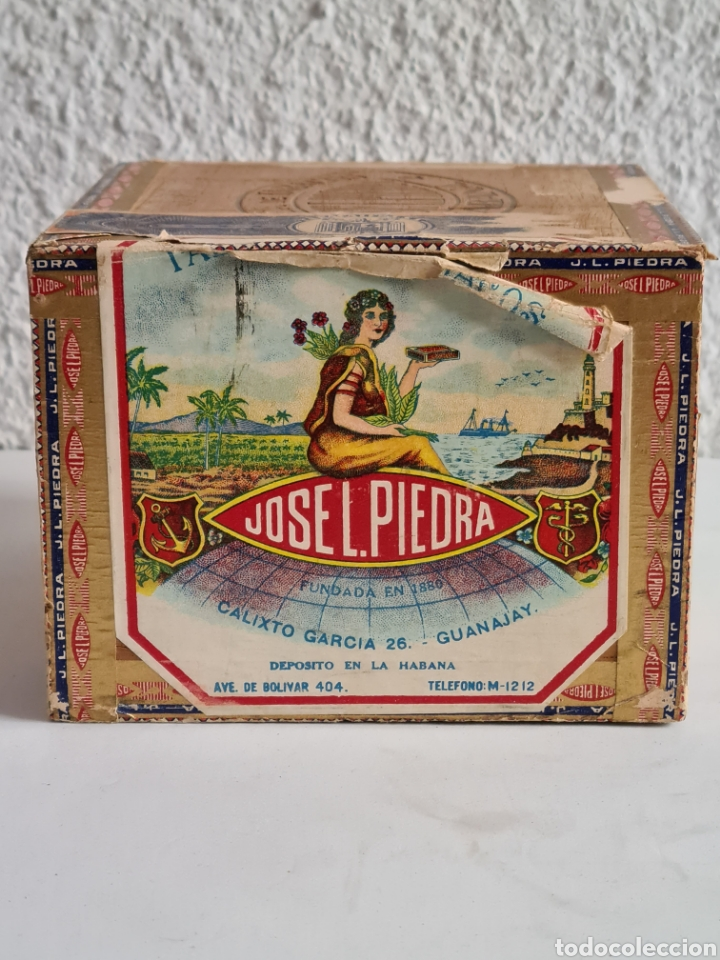Cajas de Puros: Caja vacía Fábrica Tabacos Puros Habanos José L. Piedra - Habana Cuba - Cigars - Foto 6 - 278035383