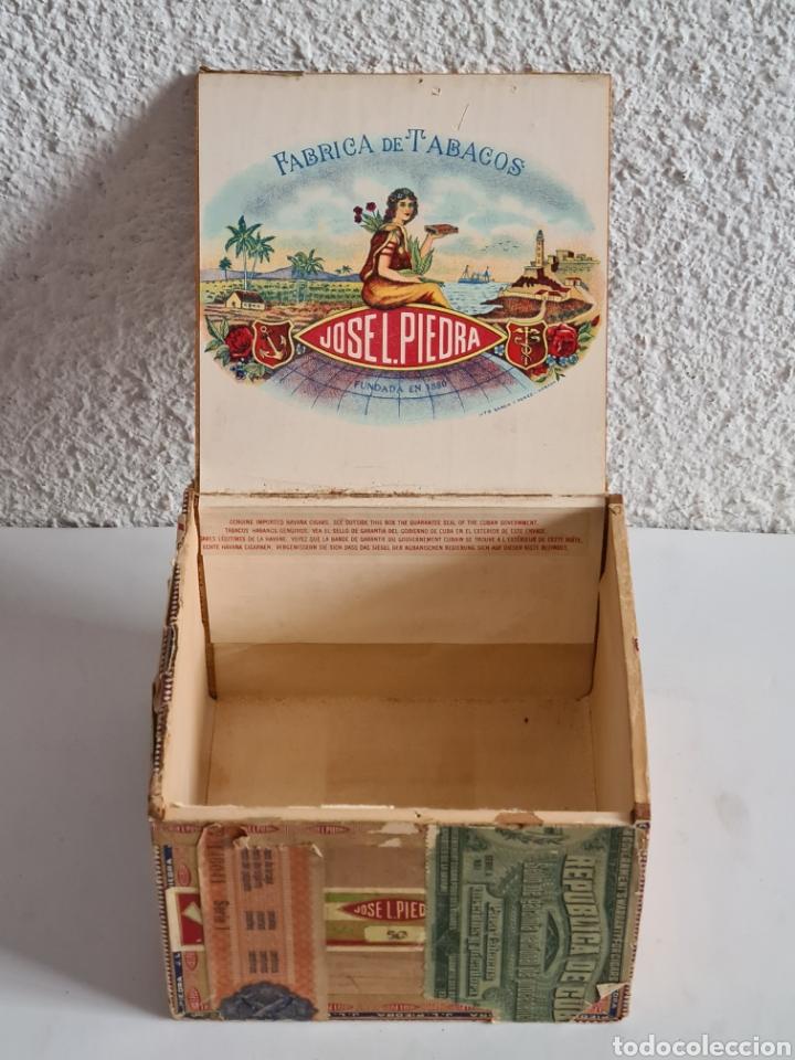 Cajas de Puros: Caja vacía Fábrica Tabacos Puros Habanos José L. Piedra - Habana Cuba - Cigars - Foto 12 - 278035383
