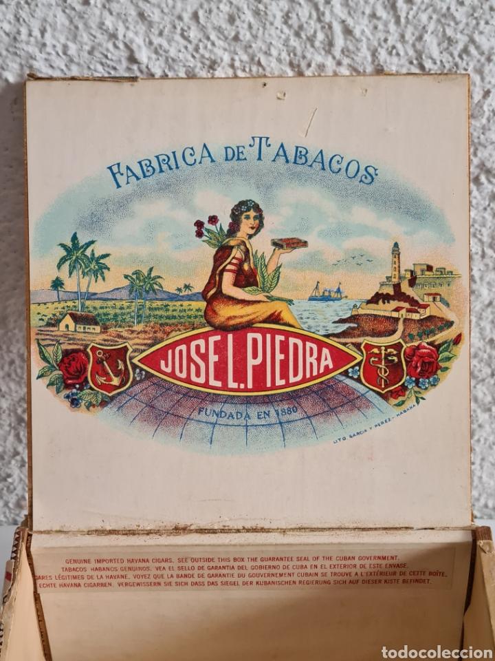 Cajas de Puros: Caja vacía Fábrica Tabacos Puros Habanos José L. Piedra - Habana Cuba - Cigars - Foto 13 - 278035383