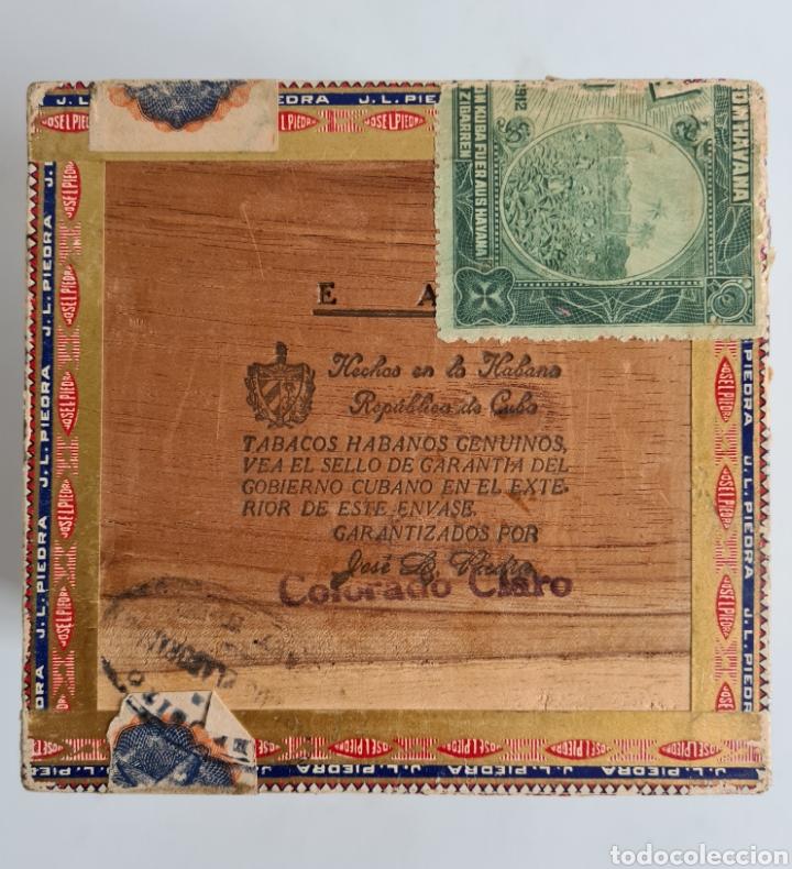Cajas de Puros: Caja vacía Fábrica Tabacos Puros Habanos José L. Piedra - Habana Cuba - Cigars - Foto 16 - 278035383