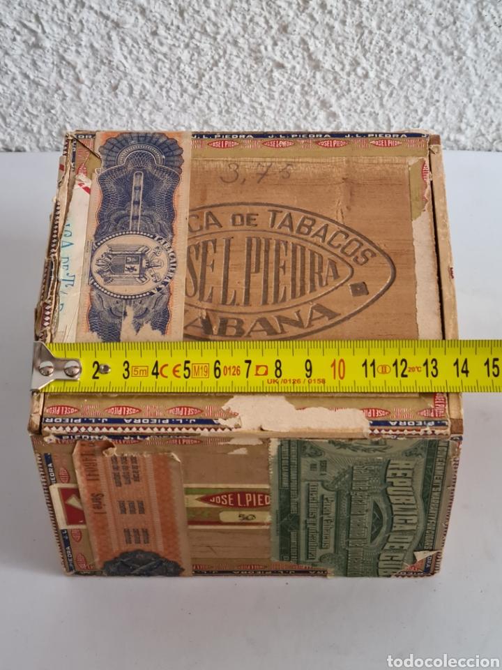 Cajas de Puros: Caja vacía Fábrica Tabacos Puros Habanos José L. Piedra - Habana Cuba - Cigars - Foto 20 - 278035383