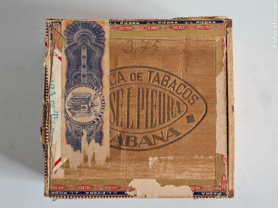 CAJA VACÍA FÁBRICA TABACOS PUROS HABANOS JOSÉ L. PIEDRA - HABANA CUBA - CIGARS (Coleccionismo - Objetos para Fumar - Cajas de Puros)