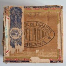 Cajas de Puros: CAJA VACÍA FÁBRICA TABACOS PUROS HABANOS JOSÉ L. PIEDRA - HABANA CUBA - CIGARS. Lote 278035383