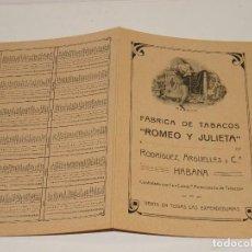 Cajas de Puros: CATALGO PUROS - FÁBRICA DE TABACOS ROMEO Y JULIETA, RODRÍGUEZ ARGÜELLES - HABANA AÑO 1916 HABANOS. Lote 281068013
