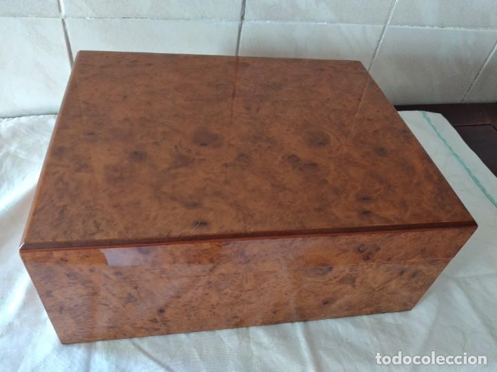 Cajas de Puros: humidificador de puros guy janot, madera de raíz . - Foto 2 - 284443863