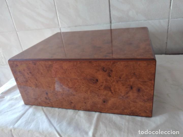 Cajas de Puros: humidificador de puros guy janot, madera de raíz . - Foto 4 - 284443863